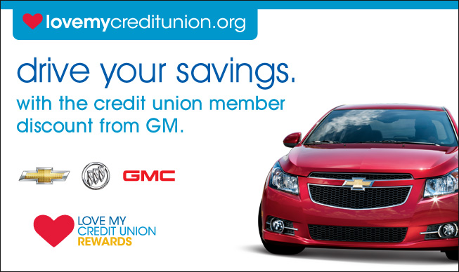 Credit union members get great rewards through the GM Credit Union Discount