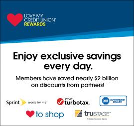 Credit union members get great rewards through the Love My Credit Union Program