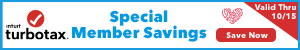 Save Up To $15 on TurboTax