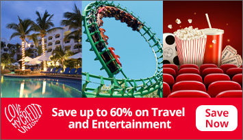 Save up to 60% on Travel and Entertainment