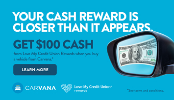 $100 Cash Reward from LMCUR when you buy a vehicle from Carvana